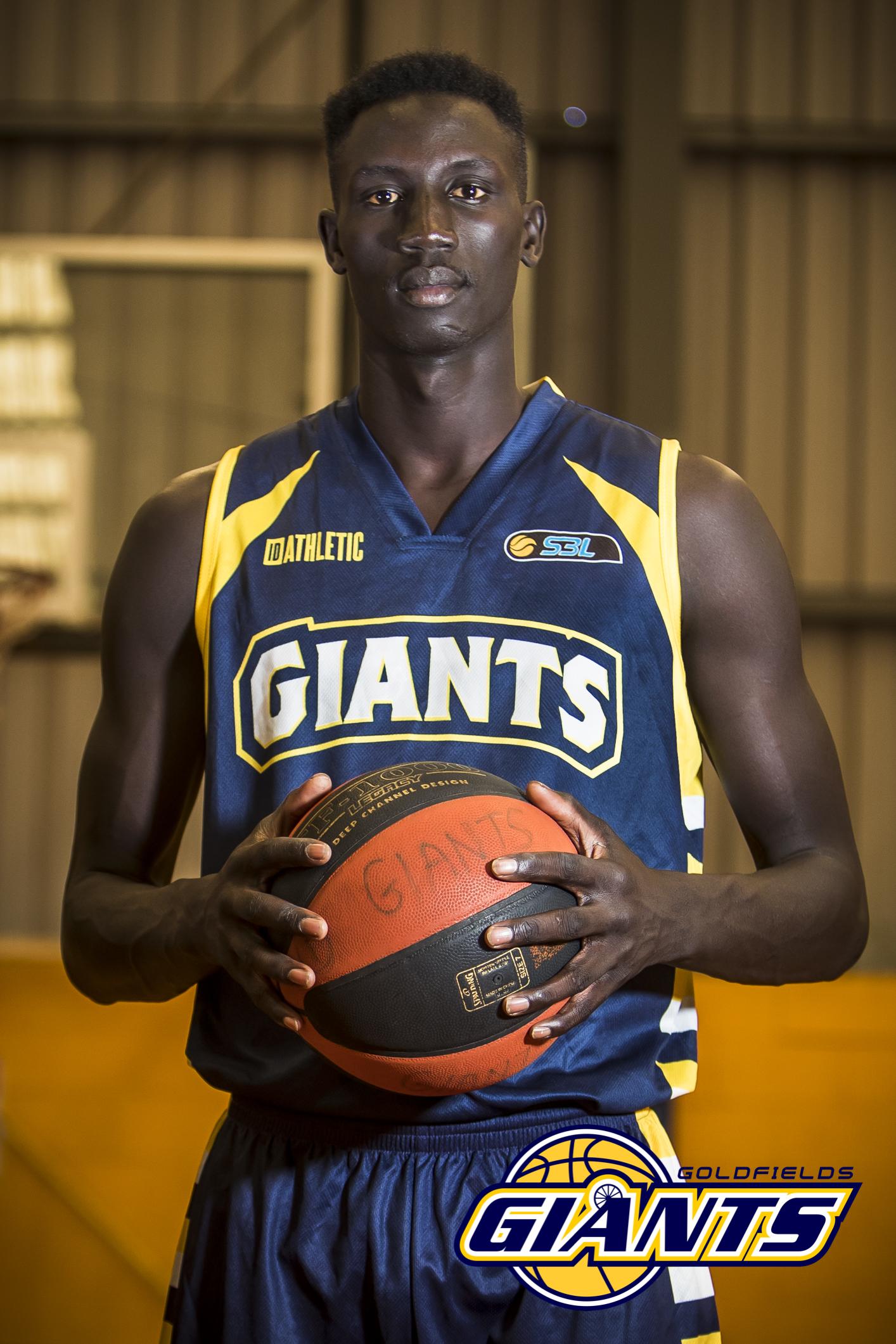 Goldfields Giants player Manylok Malek.
